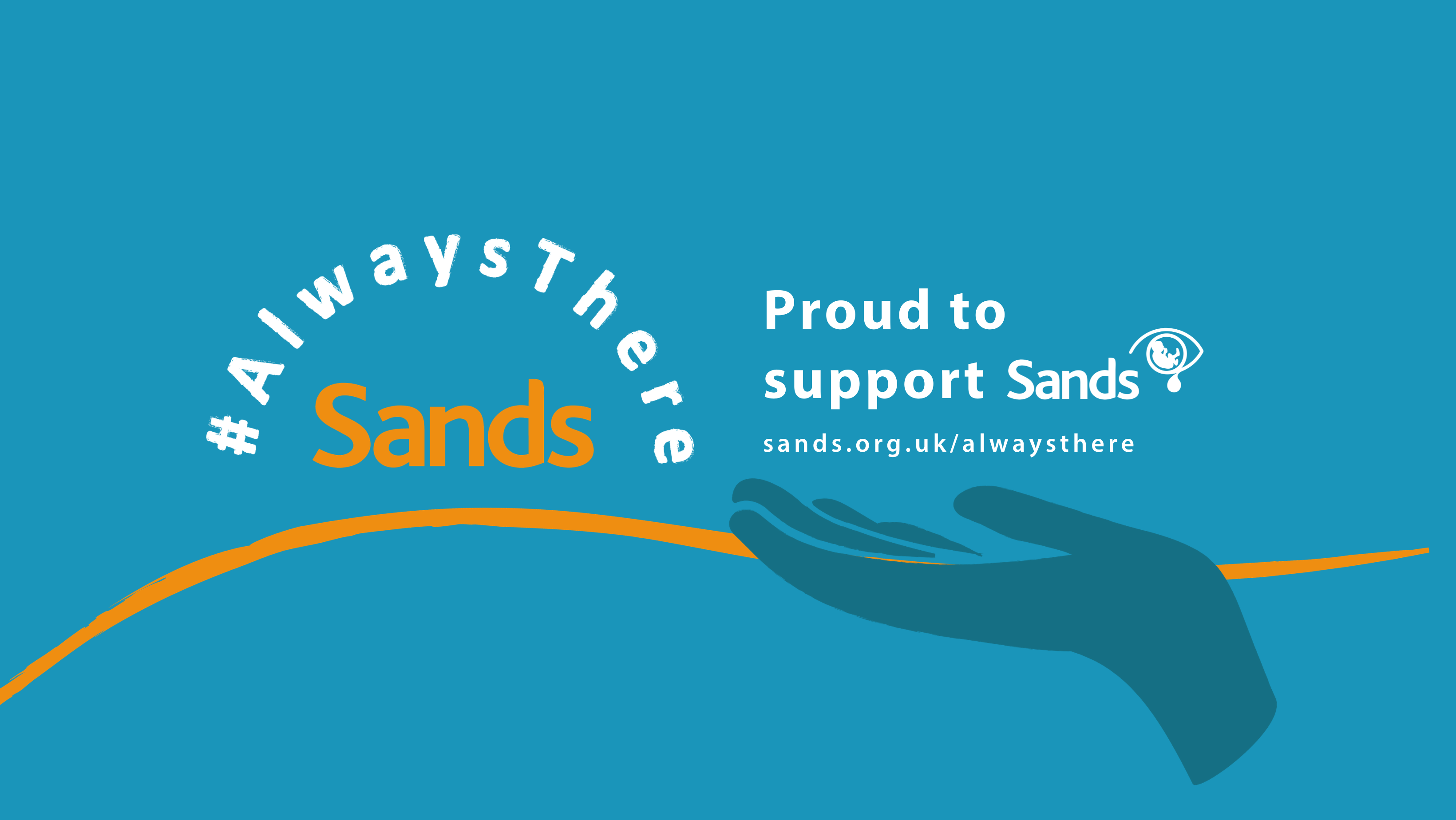 Sands Awareness Month Always There campaign facebook banner for supporters