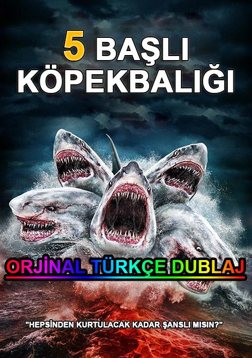 5 Başlı Köpekbalığı | 5 Headed Shark Attack | 2017 | BDRip | XviD | Türkçe Dublaj | m720p - m1080p | BluRay | Dual | TR-EN | Tek Link