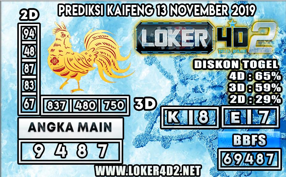 PREDIKSI TOGEL KAIFENG POOLS LOKER4D2 13 NOVEMBER 2019
