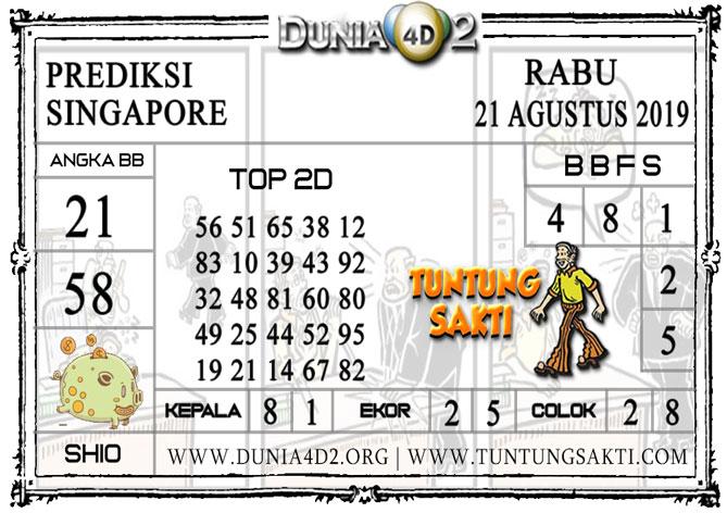 """Prediksi Togel """"SINGAPORE"""" DUNIA4D2 21 AGUSTUS 2019"""
