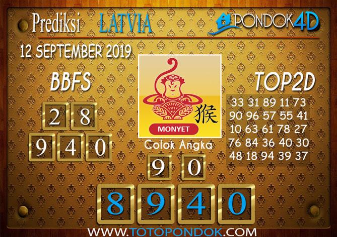 Prediksi Togel LATVIA POOLS PONDOK4D 12 SEPTEMBER 2019