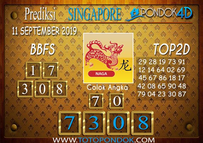 Prediksi Togel SINGAPORE PONDOK4D 11 SEPTEMBER 2019