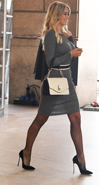 MILAN-ITALY-OCTOBER-23-Diletta-Leotta-is-seen-on-the-set-of-Intimissimi-advertising-campaign-in-Mila
