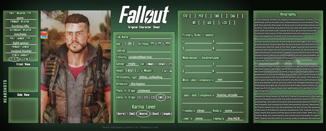 New Vegas Community Playthrough 2020 - Page 2 Courier-Profile-Caligula-WIP