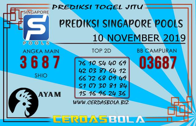 """Prediksi Togel """"SINGAPORE"""" CERDASBOLA 10 NOVEMBER 2019"""