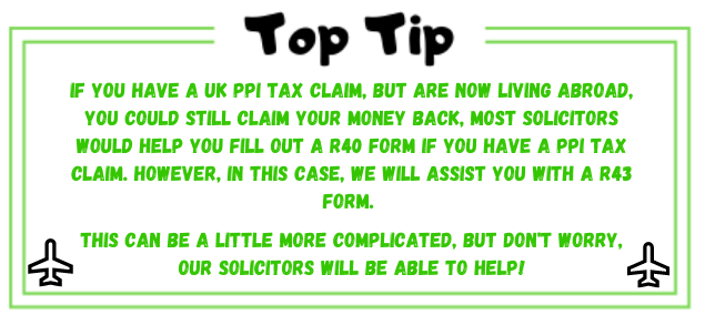 PPI tax claims abroad