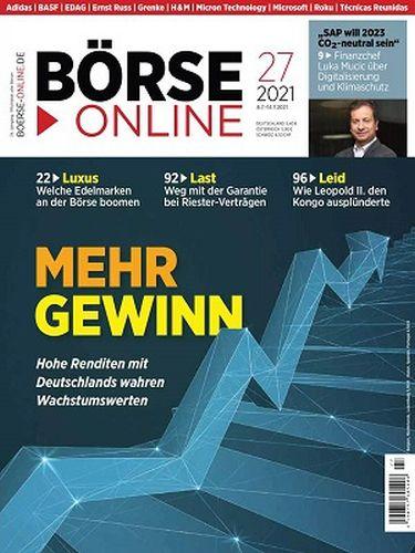 Cover: Börse Online Magazin No 27 vom 08  Juli 2021