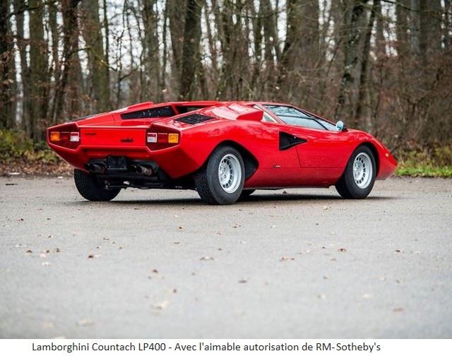 Lamborghini Miura SV et Countach LP 400 «Periscopio» atteignent des prix records à la vente RM Sotheby's Paris 579666-v2