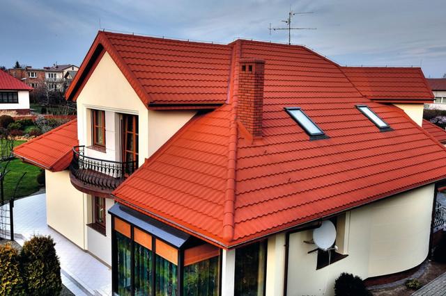крыша загородного дома фото