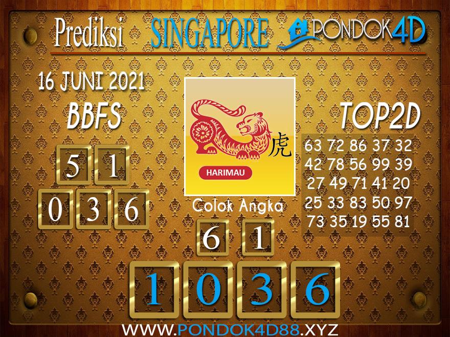 Prediksi Togel SINGAPORE PONDOK4D 16 JUNI 2021