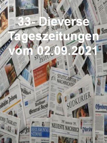 Cover: 33- Diverse Tageszeitungen vom 02  September 2021