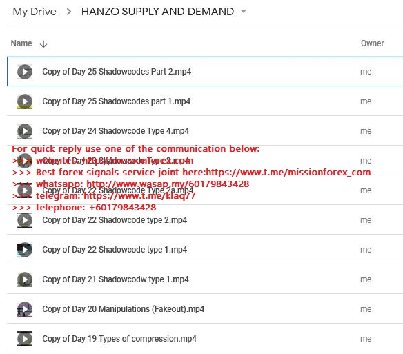 HANZO SUPPLY AND DEMAND COURSE (plus select any other course as free gift)