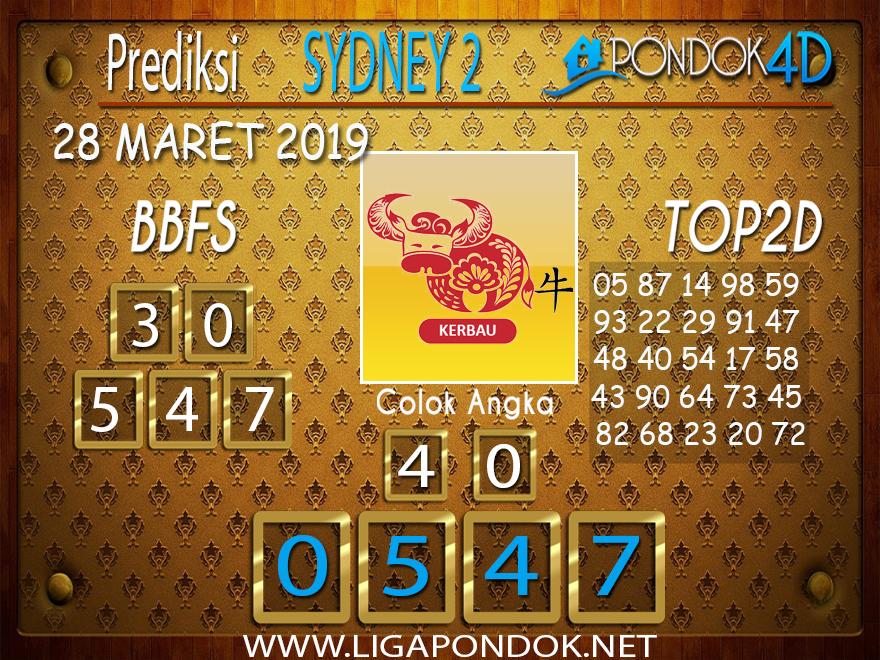 Prediksi Togel SYDNEY 2 PONDOK4D 28 MARET 2019