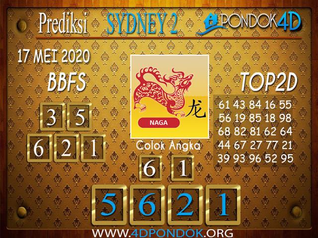Prediksi Togel SYDNEY 2 PONDOK4D 17 MEI 2020