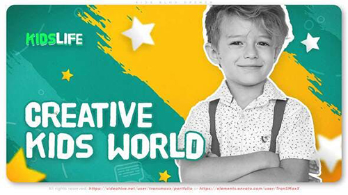 Kids Blog Opener 33799983 - Project for After Effects (Videohive)