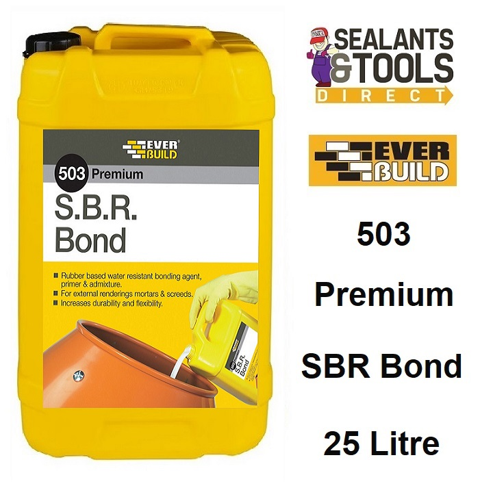 Everbuild 503 SBR Bond Waterproof Bonding Agent 25 Litre SBRB25