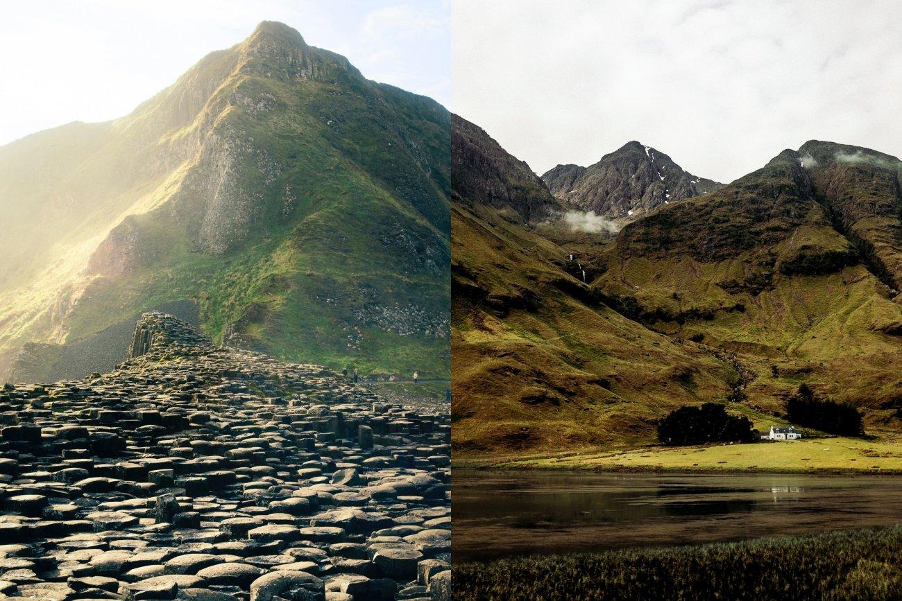 The Giant's Causway, Ireland and Glencoe, Scotland
