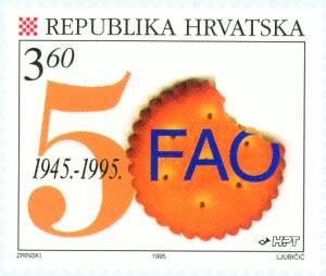 1995. year 50-OBLJETNICA-ORGANIZACIJE-UJEDINJENIH-NARODA-I-FAO-OTKRHNUTI-KREKER-INICIJALI-FAO