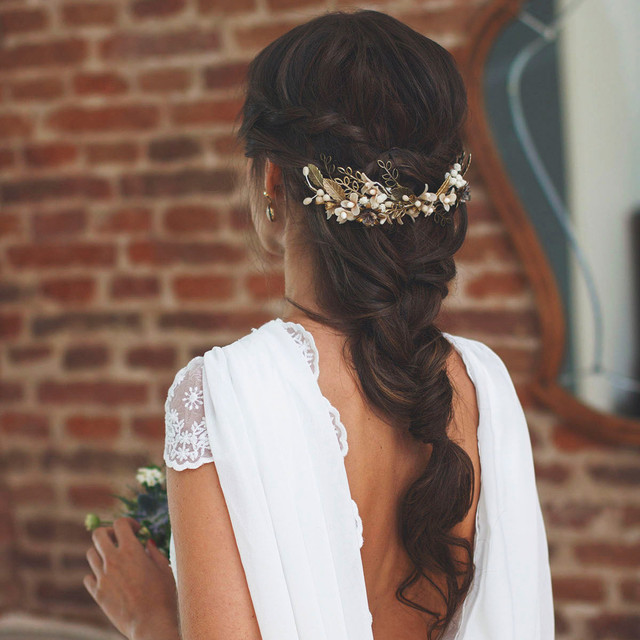 a girl with Greek hairstyle