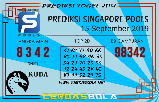 "Prediksi Togel ""SINGAPORE"" CERDASBOLA 15 SEPTEMBER 2019"