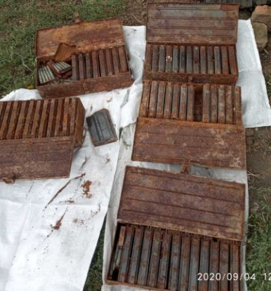 Along with the weapon, there was a huge amount of ammunition.