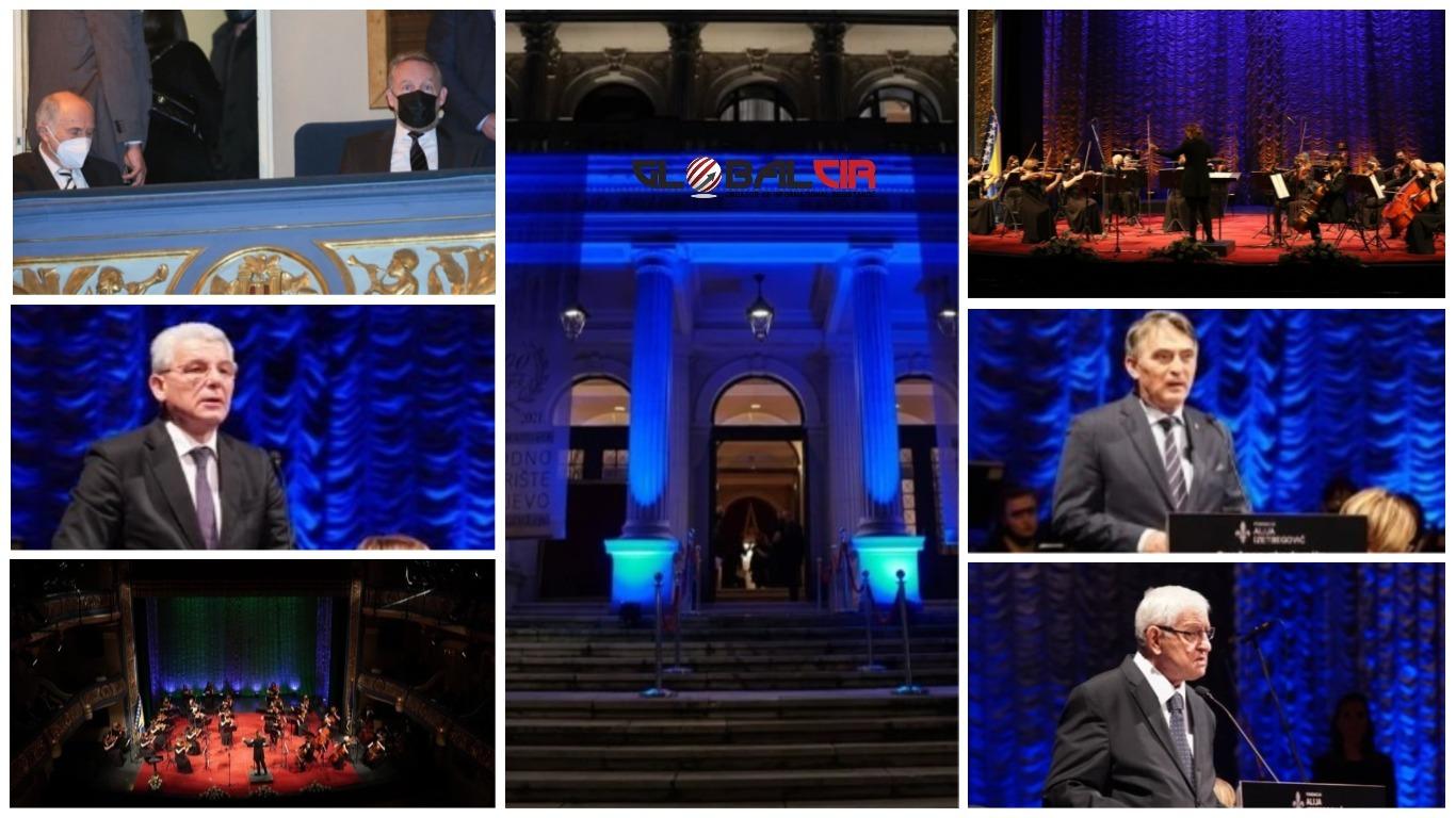 U ORGANIZACIJI FONDACIJE 'ALIJA IZETBEGOVIĆ': Državni vrh i visoke zvanice na Svečanoj akademiji povodom Dana nezavisnosti u Narodnom pozorištu Sarajevo