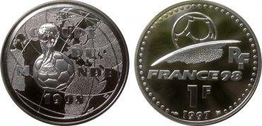 1 франк Франция Чемпионат Мира по футболу 1998