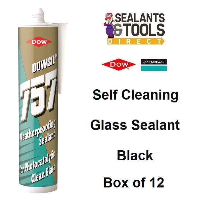 Dow Corning Dowsil 757 Self Cleaning Glass Sealant Black Box 12