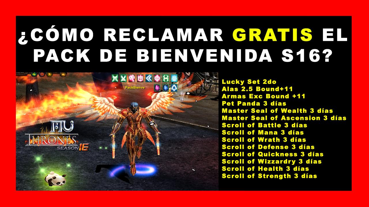RECLAMA GRATIS PACK DE BIENVENIDA