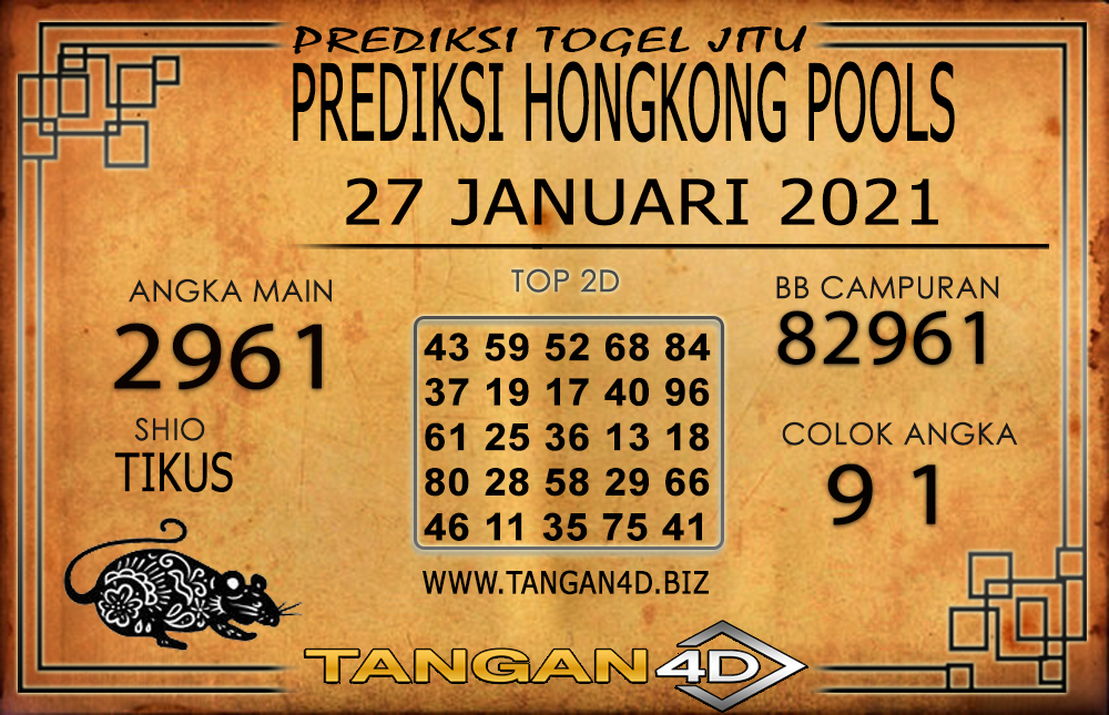 PREDIKSI TOGEL HONGKONG TANGAN4D 27 JANUARI 2021