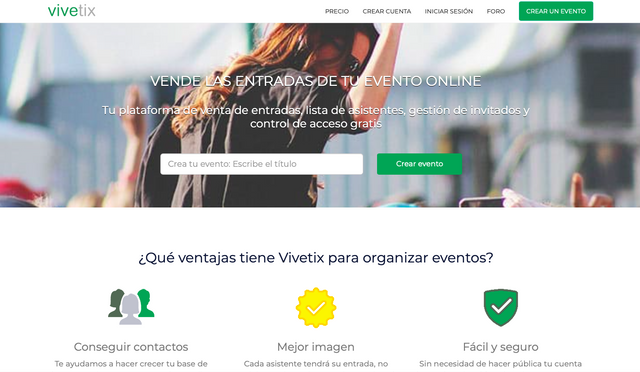 Promocionar eventos en Vivetix