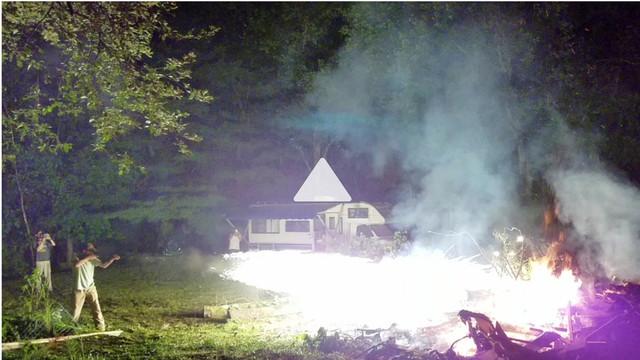How men start bonfires...
