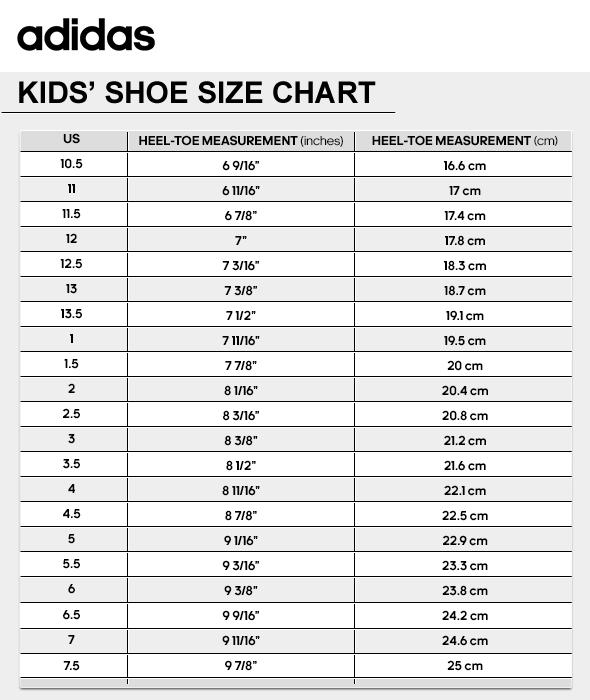best cheap 7f66d 823d3 Size Chart  Description of the adidas Baseline Shoes Kids
