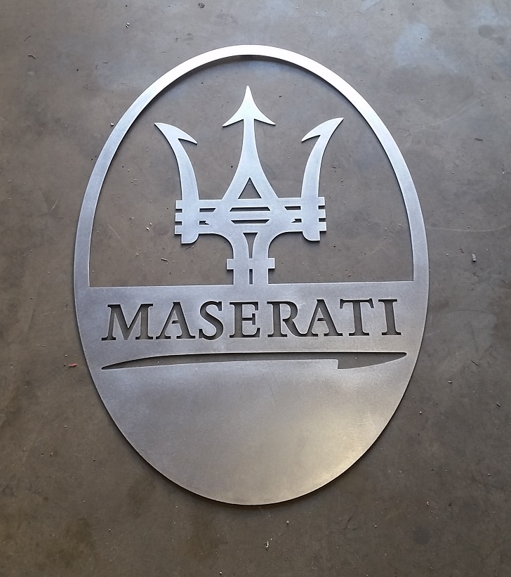 MASARATI GARAGE CAR ART SIGN 1