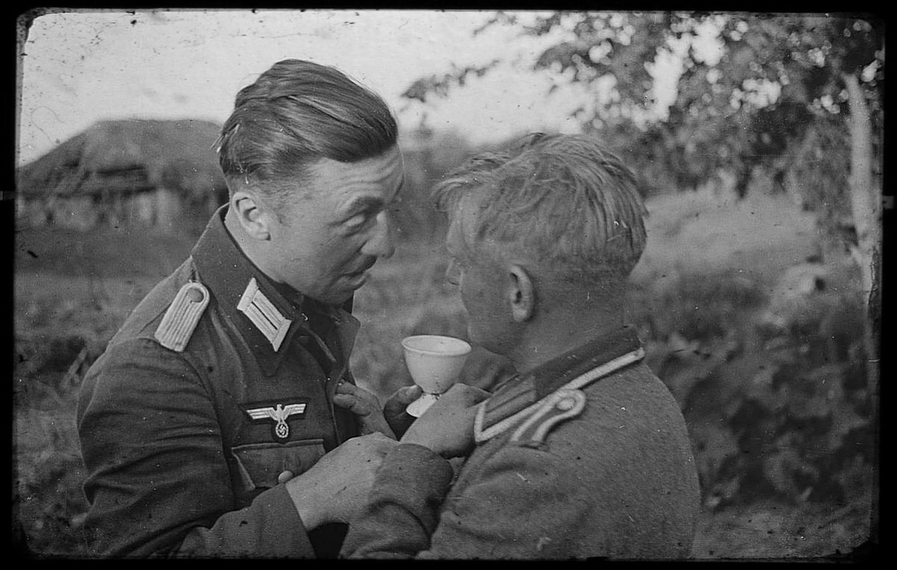 Drunk soldiers of the 167th infantry division of the Wehrmacht