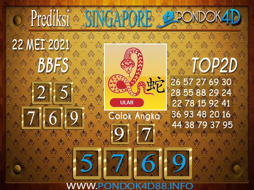 Prediksi Togel SINGAPORE PONDOK4D 22 MEI 2021