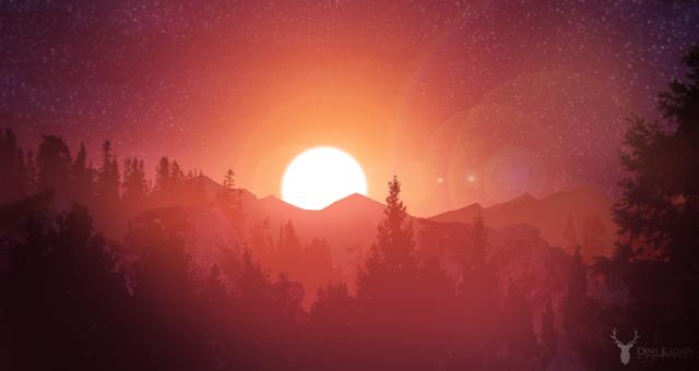 sunset signed