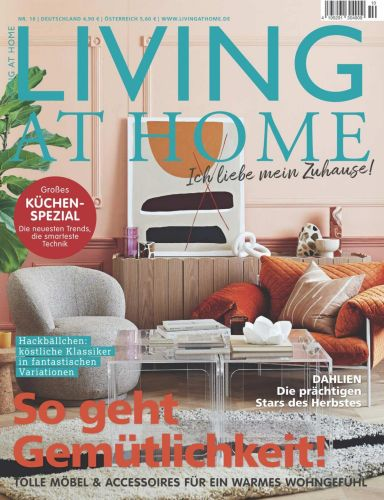 Cover: Living at Home Magazin No 10 Oktober 2021
