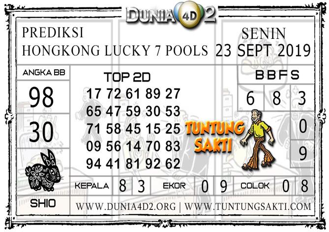"""Prediksi Togel """"HONGKONG LUCKY7"""" DUNIA4D2 23 SEPTEMBER 2019"""