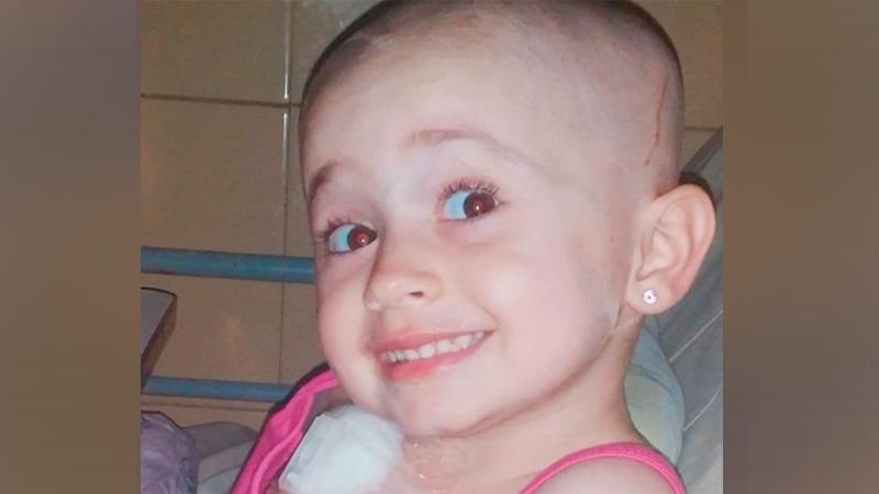 LLAMADO SOLIDARIO: La entrerrianita Sofía de 4 años, necesita costosas ampollas para iniciar tratamiento contra el cáncer