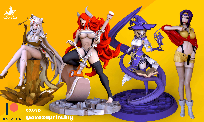 OXO3D Anime 3D Print Patreon