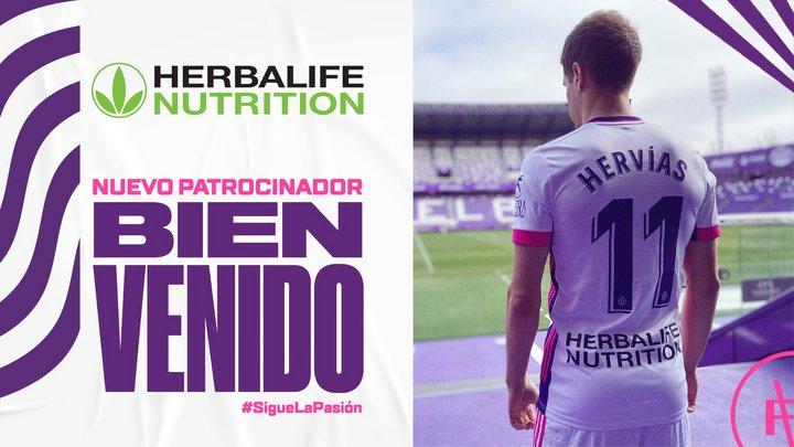 Herbalife Nutrition, nuevo patrocinador del Real Valladolid HerbP