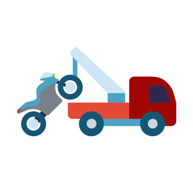 Tow Truck towing a motorcycle through our Motorcycle Towing Service.