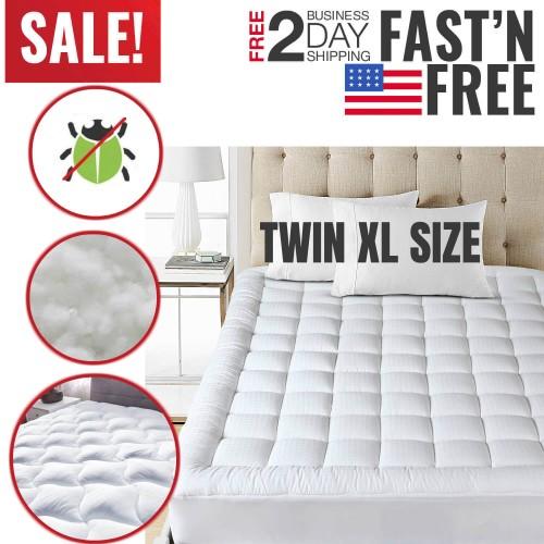 Twin Xl Size Mattress Pad Cover Down Alternative Pillow