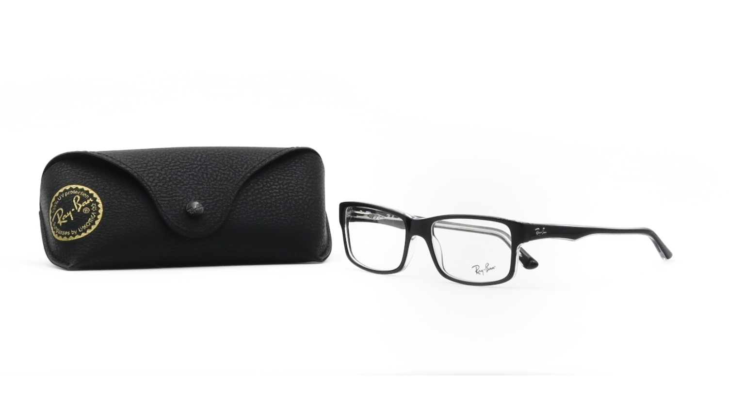 RAY-BAN Unisex Black Glasses with case RB 5245 2034 54mm