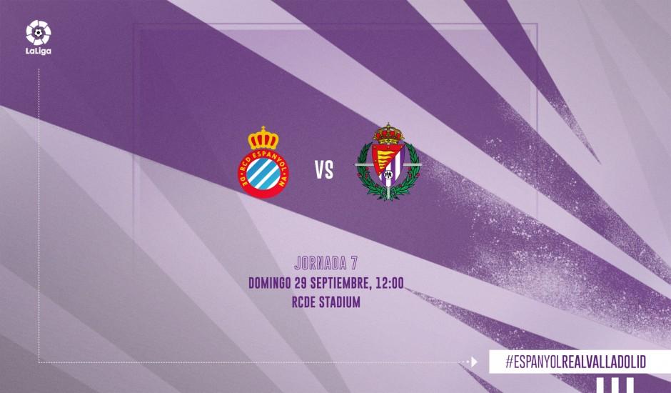 R.C.D. Espanyol - Real Valladolid C.F. Domingo 29 de Septiembre. 12:00 RCDE-RVD