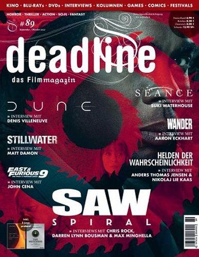 Cover: Deadline Das Film Magazin September-Oktober No 89 2021
