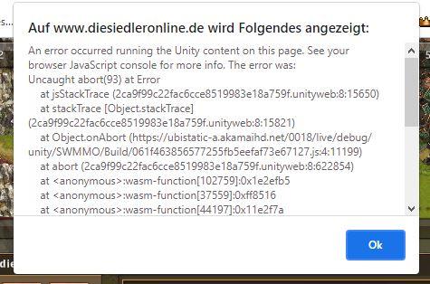 Unity-Fehler-meldung
