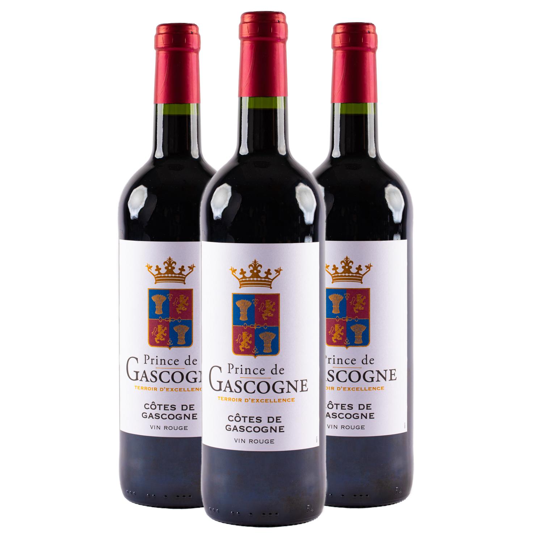 3 sticle x Prince de Gascogne, Cotes de Gascogne 375ml