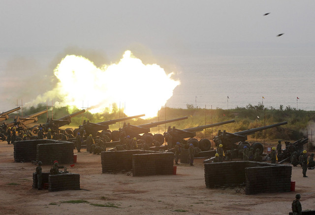taiwan military drill on the island shore
